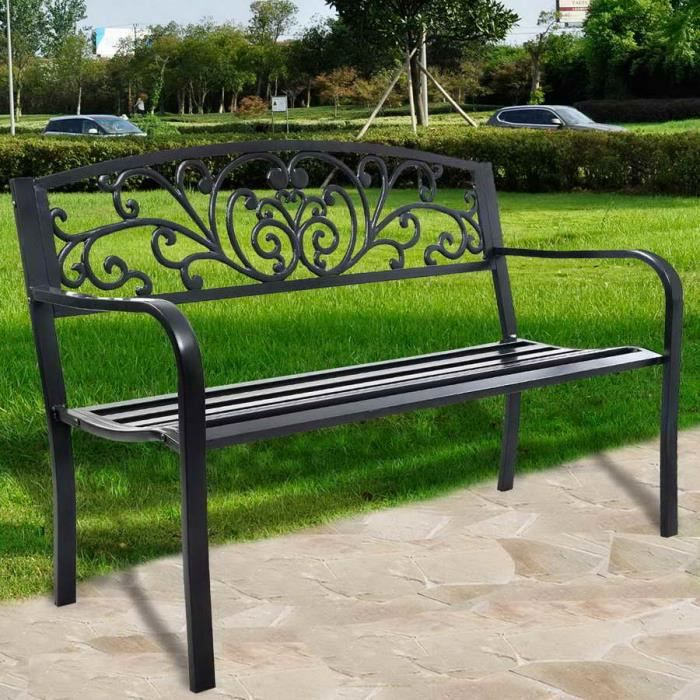 banc de jardin en fonte achat vente banc de jardin en fonte pas cher cdiscount. Black Bedroom Furniture Sets. Home Design Ideas