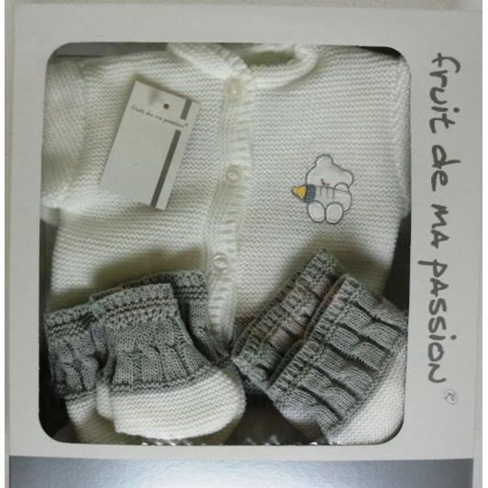 """8 pièces bébé ensemble cadeau /""""First Steps/'s Convient de la naissance à partir de couverture Chaussons"""