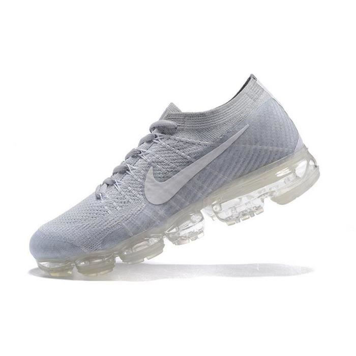 low priced 518ba 94ee6 Mixte Homme Femme Nike Flyknit Air Vapormax Basket Sports de Chaussures Gris