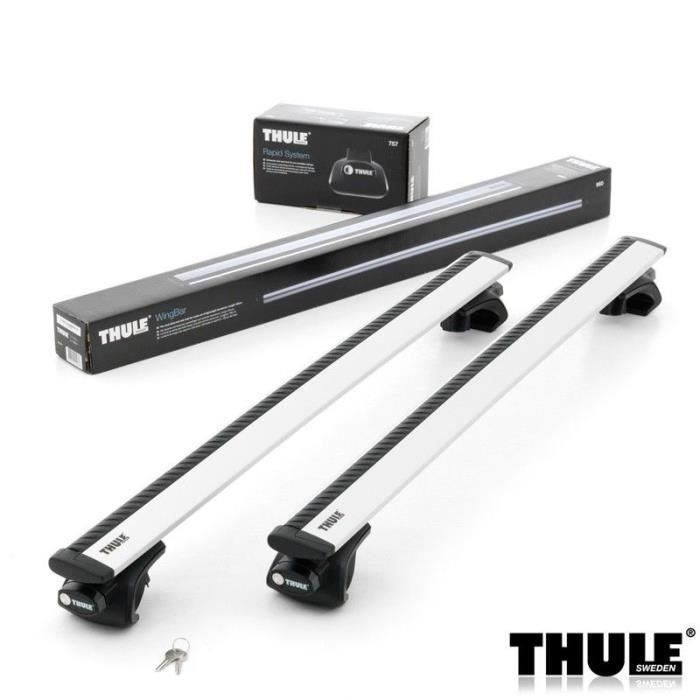 barres de toit thule wingbar 961 pour toyota rav 4 suv 5 portes de 2004 2005 achat vente. Black Bedroom Furniture Sets. Home Design Ideas
