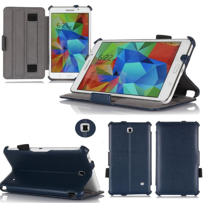 housse samsung galaxy tab 4 7 pouces etui bleu achat. Black Bedroom Furniture Sets. Home Design Ideas