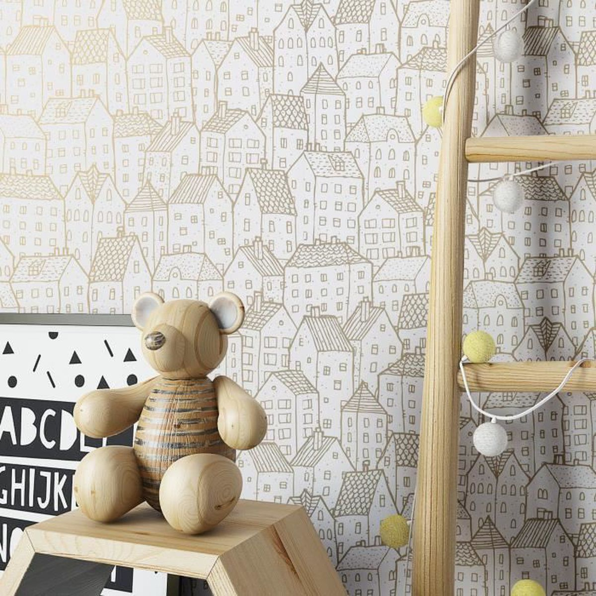 Papier Peint Chambre Moderne papier peint chambre de bébé enfants blanc moderne lavable