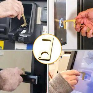PIÈCE OUTIL A MAIN Poignée de porte hygiénique, ouvre-porte EDC antib