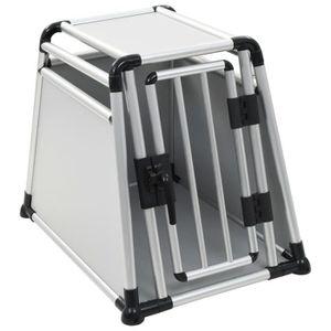 CAISSE DE TRANSPORT Cage de transport pour chiens Aluminium M