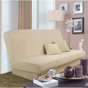 housse clic clac saly beige achat vente housse de canap cdiscount. Black Bedroom Furniture Sets. Home Design Ideas