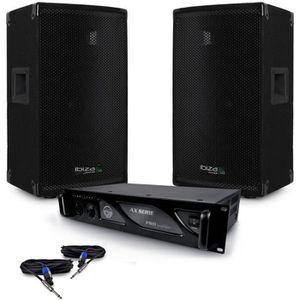 PACK SONO Pack SONO DJ enceintes passives 1200W DISCO12 IBIZ