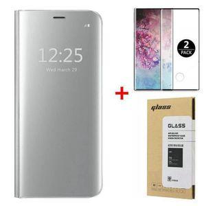 HOUSSE - ÉTUI Coque Samsung Galaxy Note 10 Plus  +[2 Pack] Verre