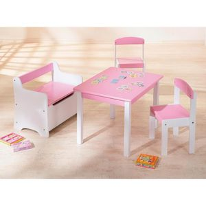 petite table enfant chaise achat vente petite table enfant chaise pas cher cdiscount. Black Bedroom Furniture Sets. Home Design Ideas