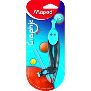 JEU DE COLORIAGE - DESSIN - POCHOIR MAPED - Compas Graphic 360° - Crayon + bague unive