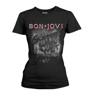 T-SHIRT Ladies Jon Bon Jovi Slippery When Wet Rock Autoris