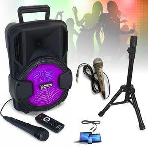 PACK SONO SONO ENCEINTE Karaoké USB MP3 BLUETOOTH FM + 2 MIC
