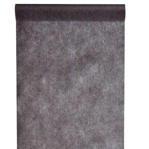 CHEMIN DE TABLE JETABLE Chemin de table noir, 30cm (x1) REF/2810