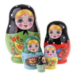 cadeau 10pcs rouge femme fille chiffres russe poupées gigognes Matryoshka