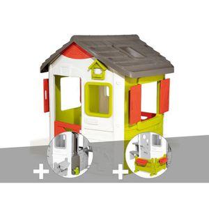 MAISONNETTE EXTÉRIEURE Cabane enfant Neo Jura Lodge - Smoby + Récupérateu