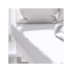 DRAP HOUSSE Drap housse uni 160x200 cm ATMO blanc