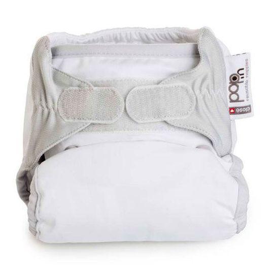 5pcs Insert de Couche Lavable en Cotton pour Ete Blanc