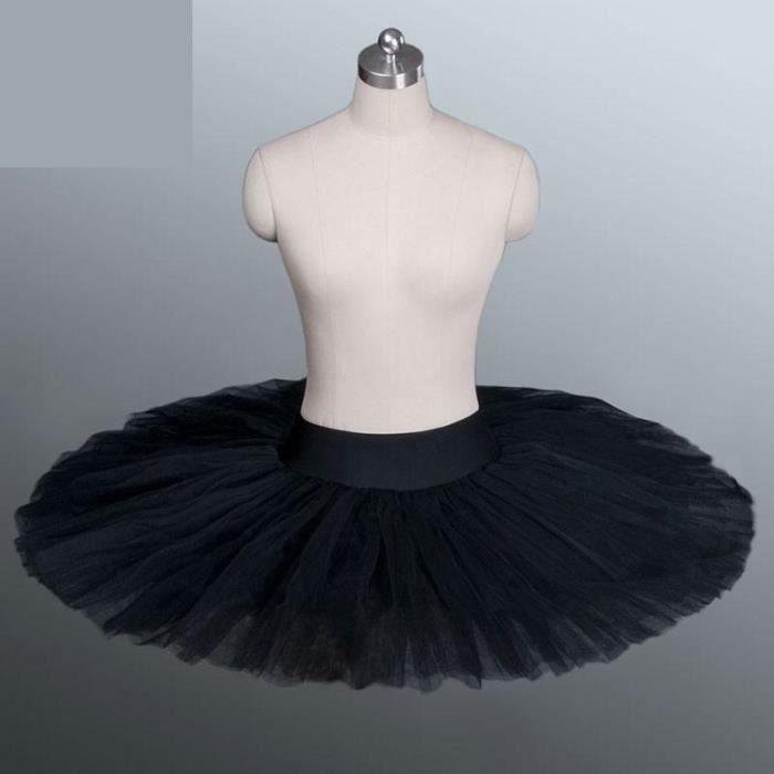 Costume de danse de Ballet professionnel pour femmes, jupe Tutu avec sous-vêtements pour adultes, noir, blanc, rouge [80B9EAC]