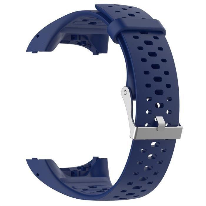 bracelet de montre vendu seul Bracelet de remplacement de bande de montre de silicone souple de sport pour pour Polar M400 M430