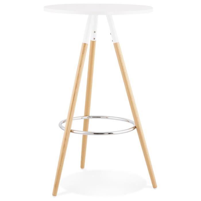 HO - Table mange debout Bois Blanc Ø 60cm H 101cm