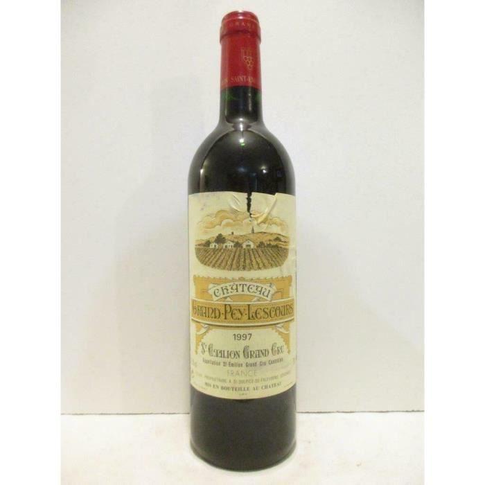saint-émilion château grand pey-lescours grand cru rouge 1997 - bordeaux