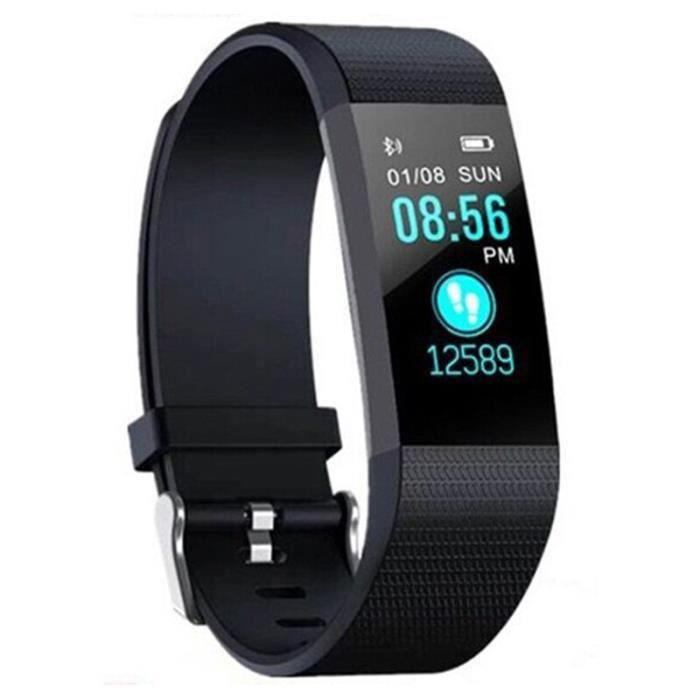 115 Plus Bracelet de bande intelligente montre Sport santé étanche Fitness montre intelligente activi - Modèle: black - HSJBQA04543