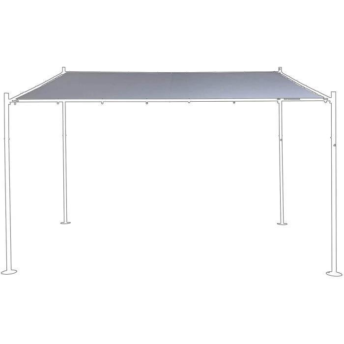 Tonnelles de camping SORARA Couverture pour Mur Gazebo - Gris - 285 x 400 cm (DXW) - Style Moderne et extérieur Canopy A 327666