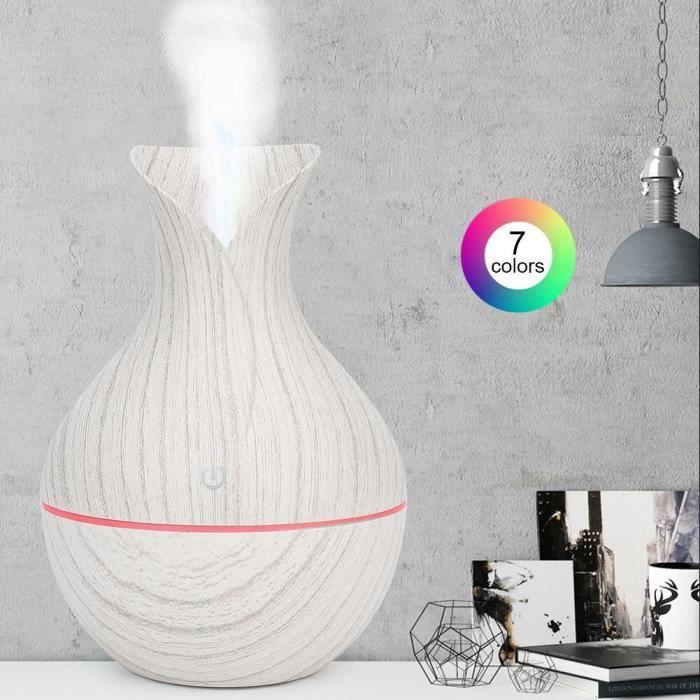 LED Humidificateur Arôme Diffuseur Huile Essentielle à Ultrason Maison USB (Blanc)
