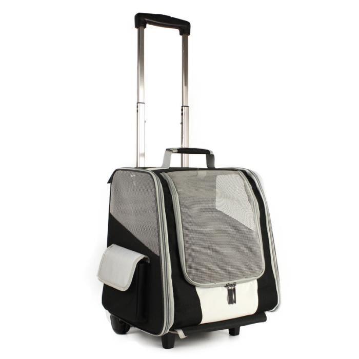 Sac de transport,Sac pour animaux de compagnie sac Trolley chien sac à dos sur épaule chat boîte boîtier de chariot - Type Black