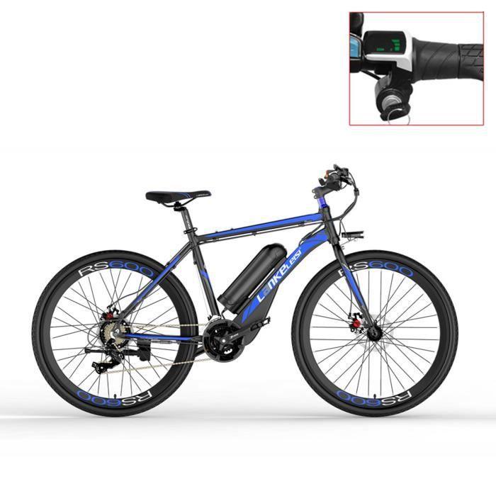Nouveau, 700C, 36V 20A, 300W, vélo électrique de route, frein à disque, cadre en alliage d'aluminium, longévité. (bleu)