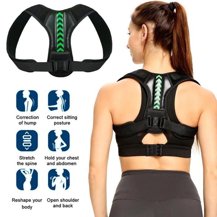 Sangle de correction réglable, adaptée au dos et aux épaules, à la clavicule et à la colonne vertébrale, remodèle votre corps