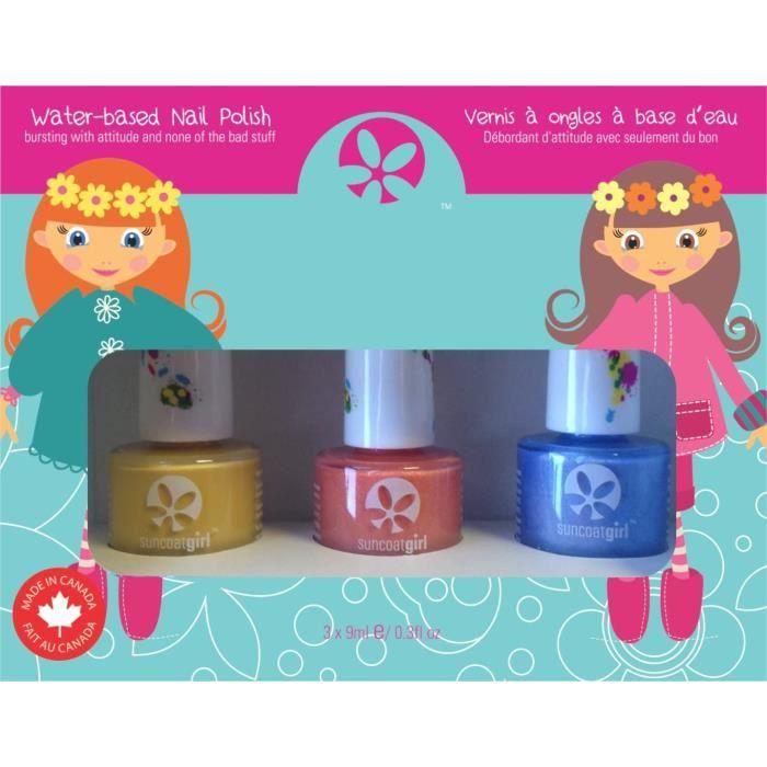 Suncoat Girl - Egg-Spiration Kit De 3 Vernis À Ongles À L'eau Pour Enfant