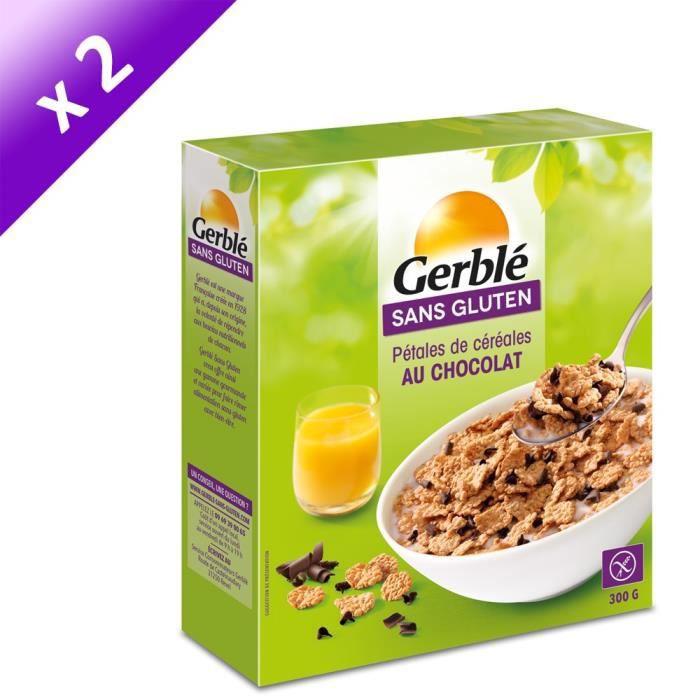 [LOT DE 2] GERBLE Pétales de riz, avec des copeaux de chocolat - 300 g
