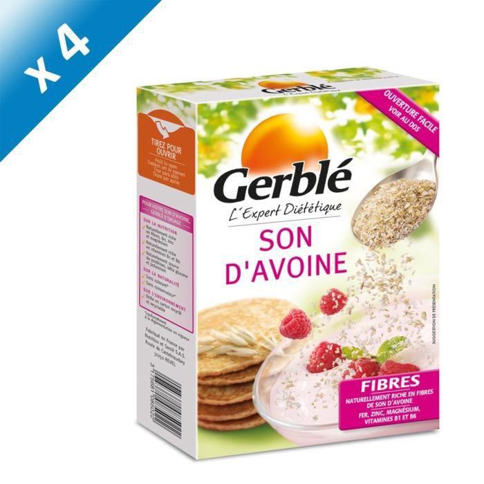 [LOT DE 4] GERBLE Son d'avoine, riche en fibres et magnésium - 400 g