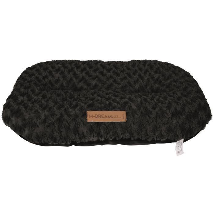 M-PETS Coussin oval Shetland L - 82x50cm - Noir - Pour chien