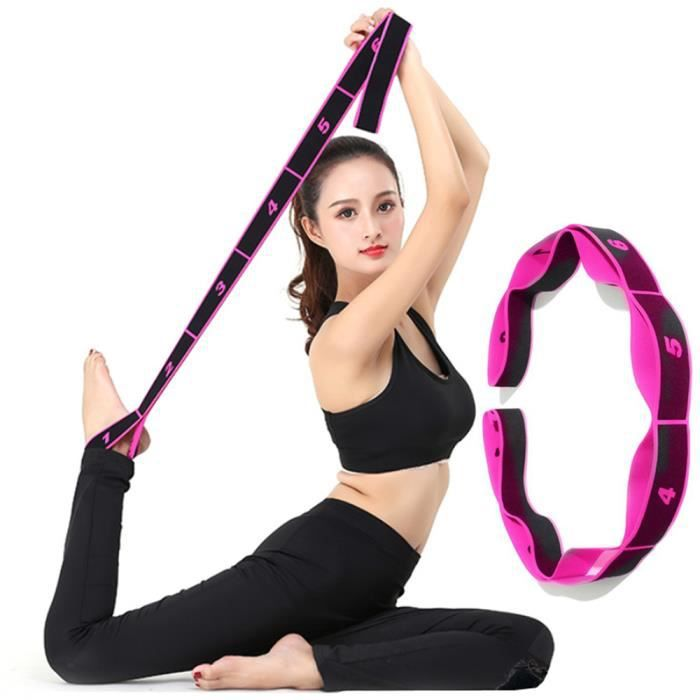 Elastique musculation fitness sport adultes stretch Bandes de résistance élastique yoga danse elastiband corde ruban sangle noir