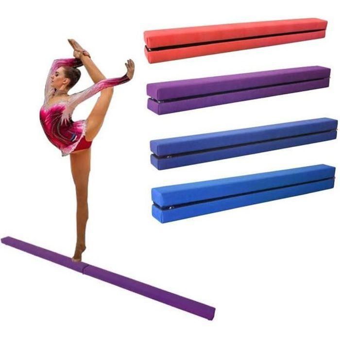 Dripex 210cm Poutre d'équilibre de Gymnastique Pliante Enfants Formation Poutre pour l'exercice de Gym à Domicile-Violet