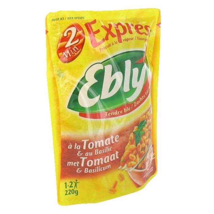 Blé précuit à la tomate et au basilic - 220 g