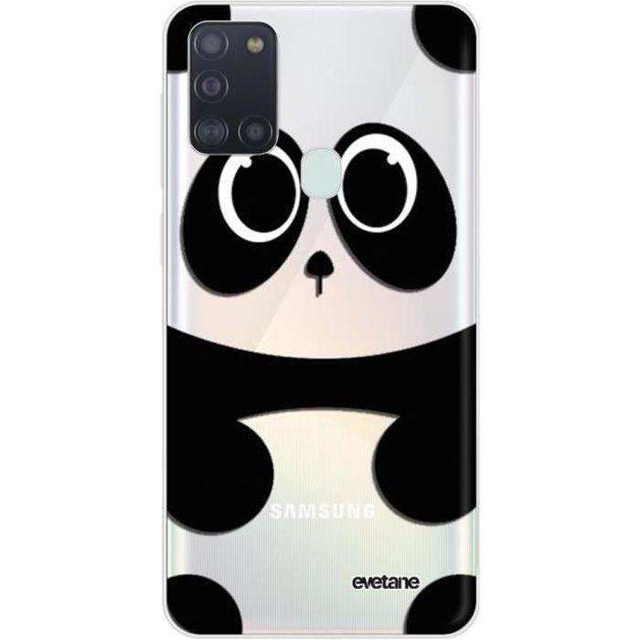 Coque Samsung Galaxy A21S 360 intégrale transparente Panda Ecriture Tendance Design Evetane.