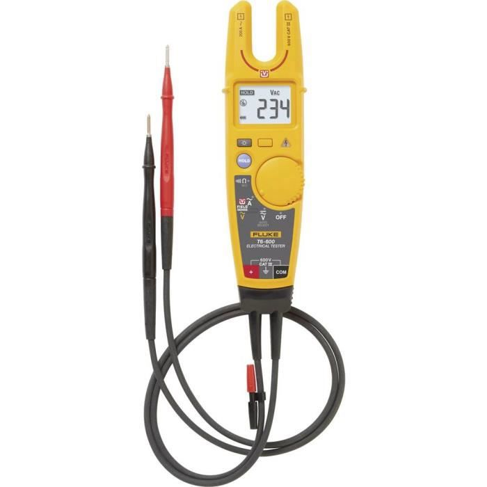 Multimètre , Pince ampèremétrique Fluke T6-600-EU numérique Etalonné selon: d'usine (sans certificat) CAT III 600 V Affichage (nom