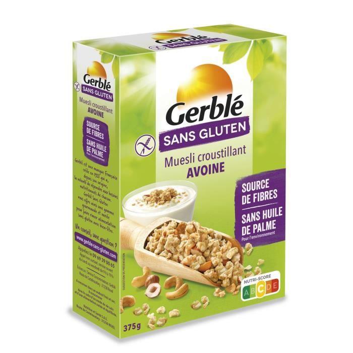 GERBLE Muesli croustillant à l'avoine sans gluten - 375 g