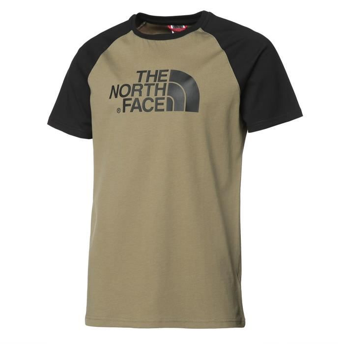 THE NORTH FACE T-Shirt Raglan Easy Tee - Homme - Kaki