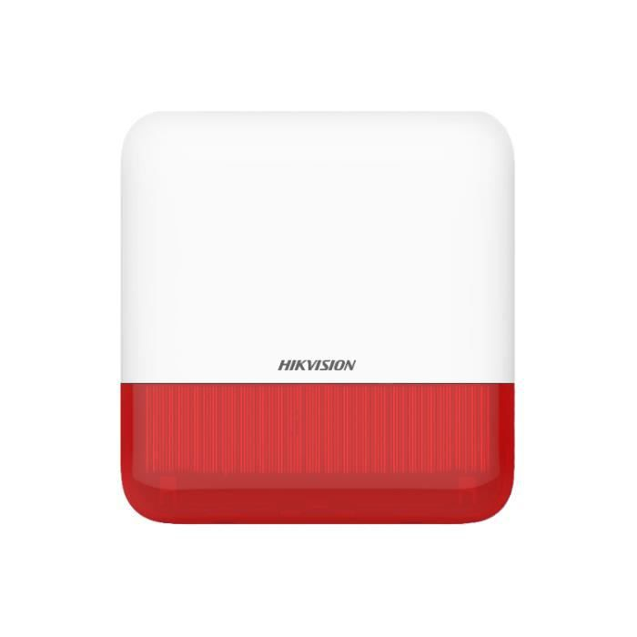 Sirène extérieure sans fil Hikvision DS-PS1-E-WE rouge 110 décibels