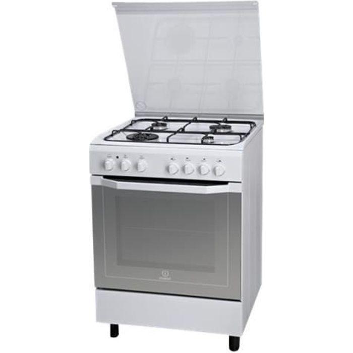 Indesit I6TMH2AF(W)-I Cuisinière pose libre largeur : 60 cm profondeur : 60 cm hauteur : 85 cm classe A blanc