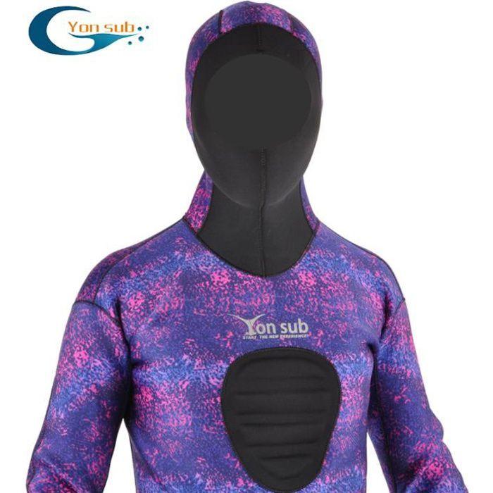 Costume de surf de combinaison de néoprène de plongée sous-marine de 3.5mm semi-sec avec le capot pour la plongée profonde de