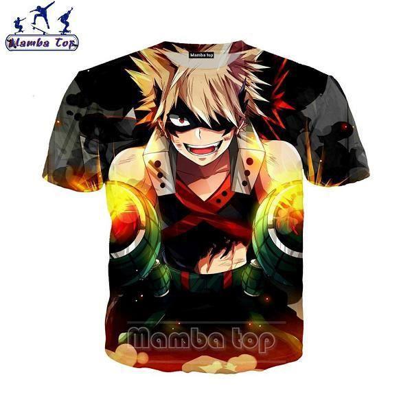 3D T-shirt,T-shirt pour homme et femme, ample et à la mode, avec dessin animé My Hero Academia, Todoroki Shouto, E017-2