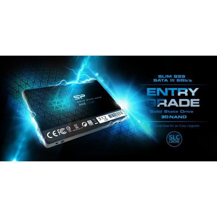 Ssd Interne 128Go, Sata Iii 3D Nand, Sata, 2,5 Pouces, Ace A55 Silicon Power