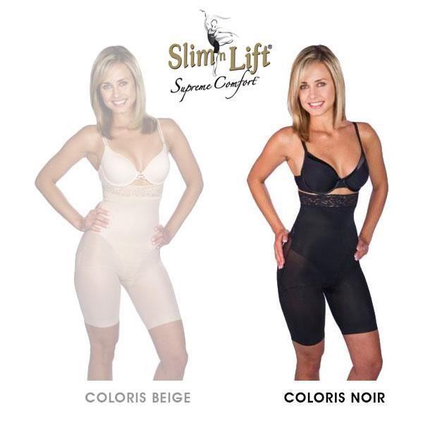 Panty Slim N Lift Gaine Amincissante Effet Minceur et Galbant Couleur Noir - Taille XXXL