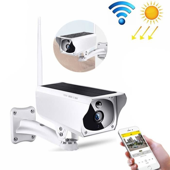 caméra surveillance extérieur wifi sans fil solaire connectée panneau solaire télécommande étanche HD carte TF infrarouge à distance