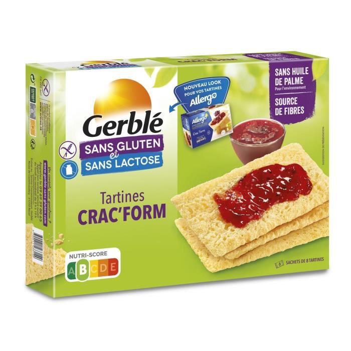 ALLERGO Crac'Form sans gluten, spécialité céréalière diététique - 250 g