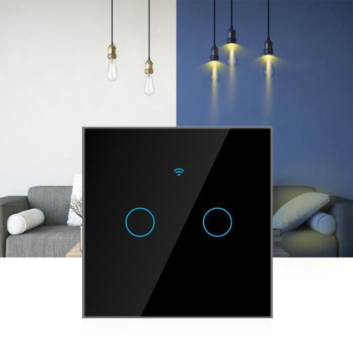 PANNEAU DE BRASSAGE Commutateur d'écran tactile WiFi simple cercleAlex